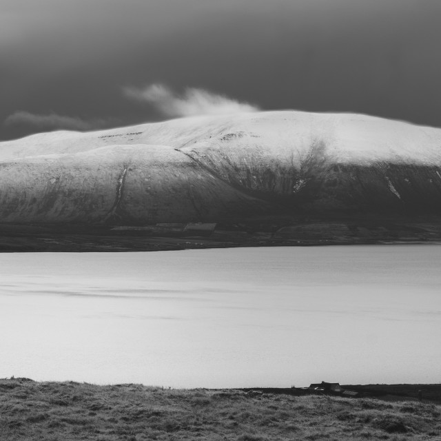 """""""Snow Capped Hoy"""" stock image"""