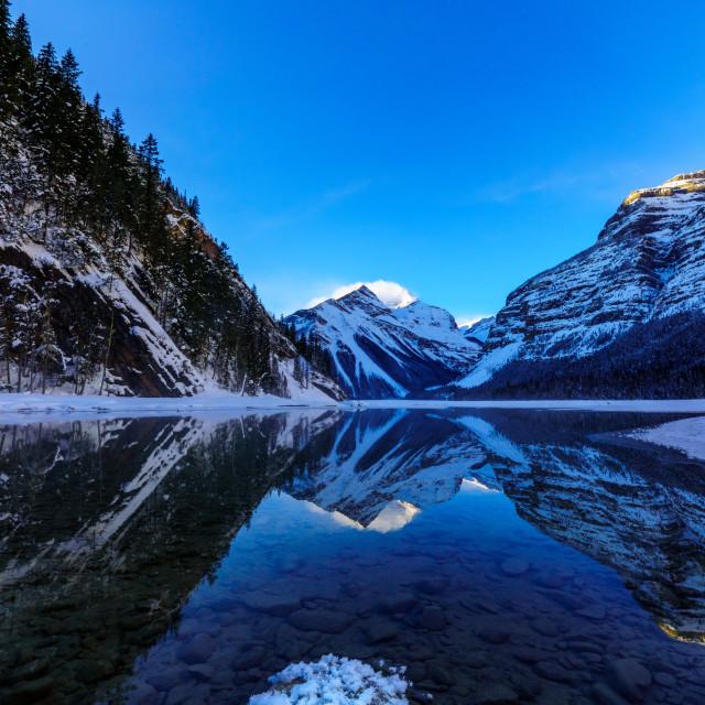 """Kinney Lake"" stock image"
