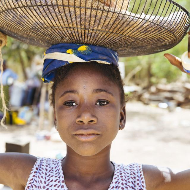 """""""girl in Burkina Faso"""" stock image"""