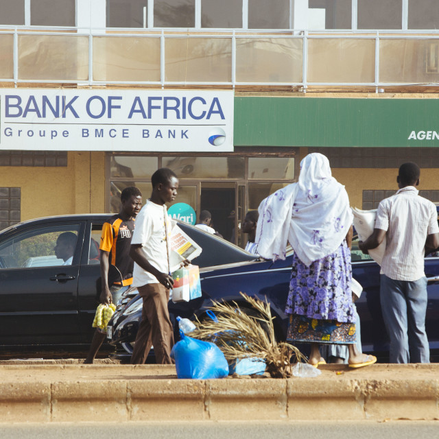 """Bank of Africa in Burkina Faso"" stock image"