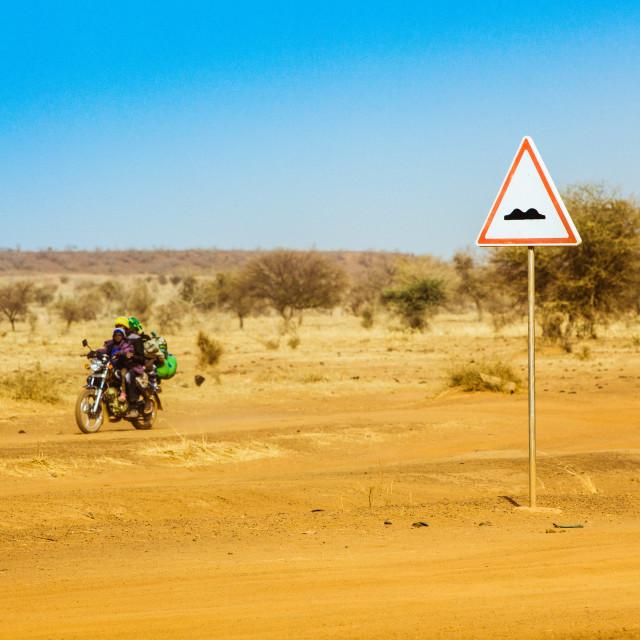 """""""Road in Rural Area in Burkina Faso"""" stock image"""