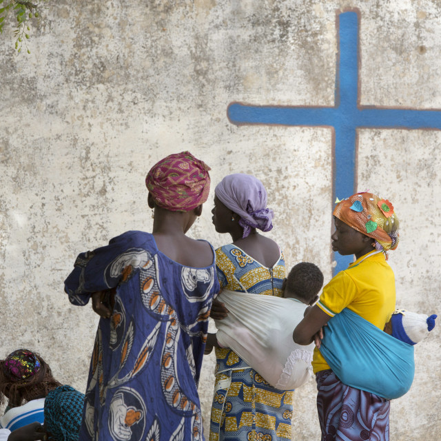 """Catholic Mass in Burkina Faso"" stock image"
