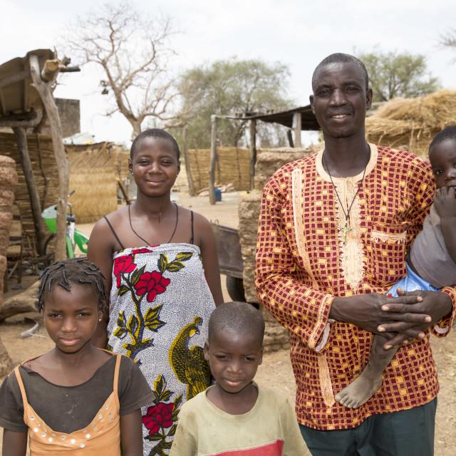"""""""Family in Burkina Faso"""" stock image"""