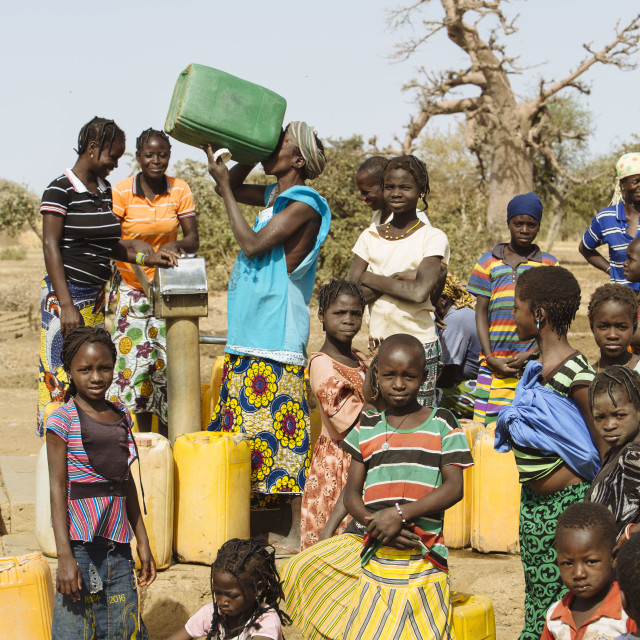 """well and fountain in Burkina Faso"" stock image"
