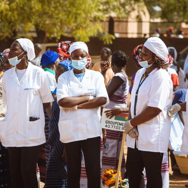 """Nurses in Burkina Faso"" stock image"