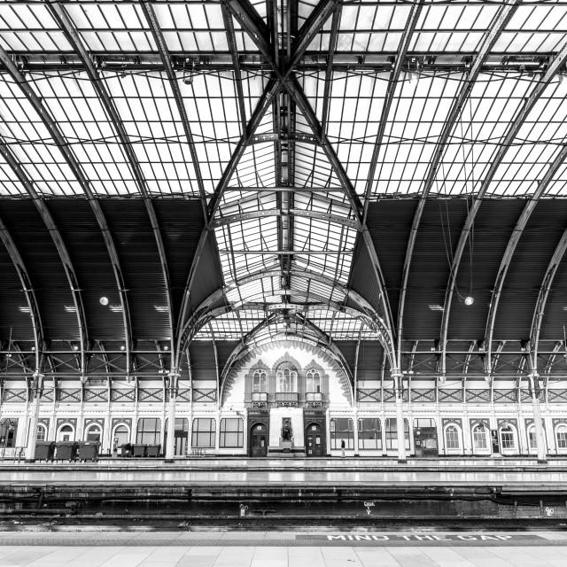 """Paddington Station, London, England"" stock image"