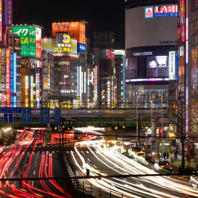 """Kabukicho neon lights in Shinjuku, Tokyo, Japan"" stock image"