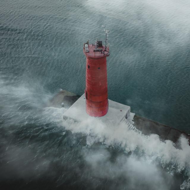 """""""Sheboygan Lighthouse"""" stock image"""