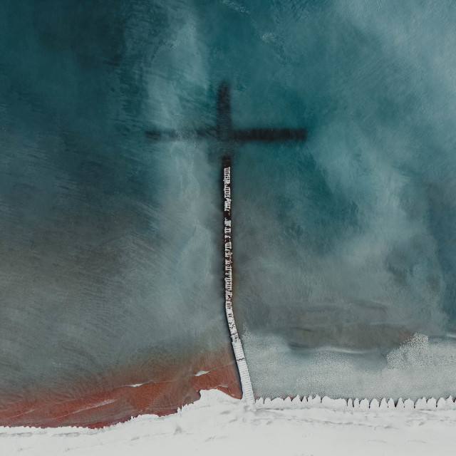 """""""Cold Water Cross"""" stock image"""