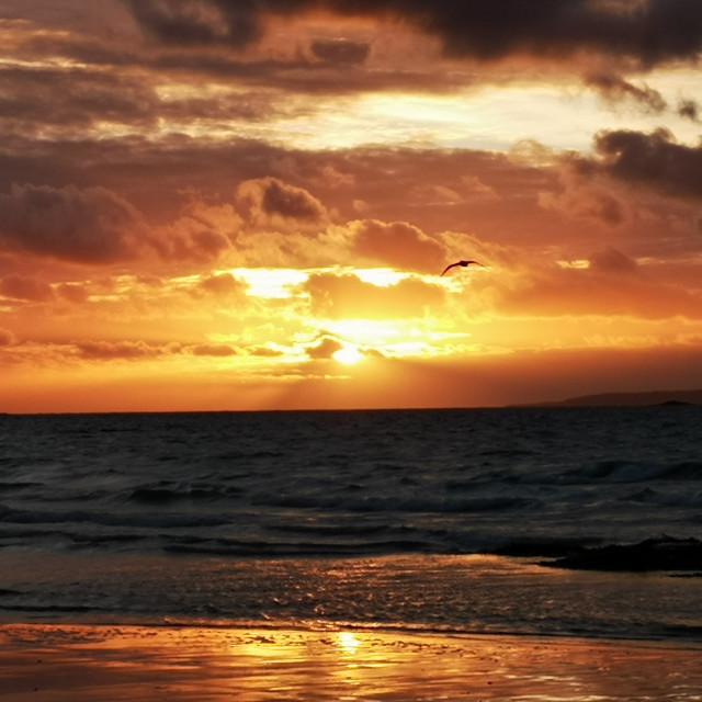 """Renvyle sunset"" stock image"