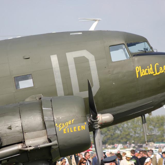 """Douglas C-47 Placid Lassie"" stock image"