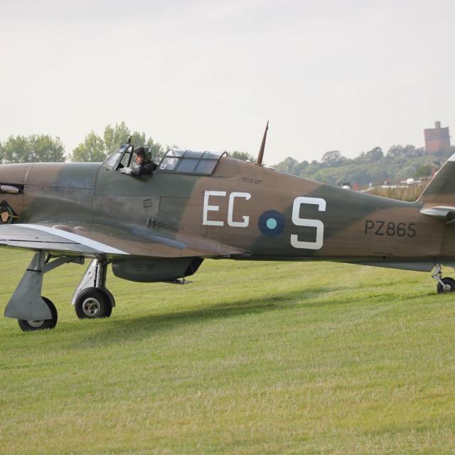 """Hawker Hurricane PZ865"" stock image"
