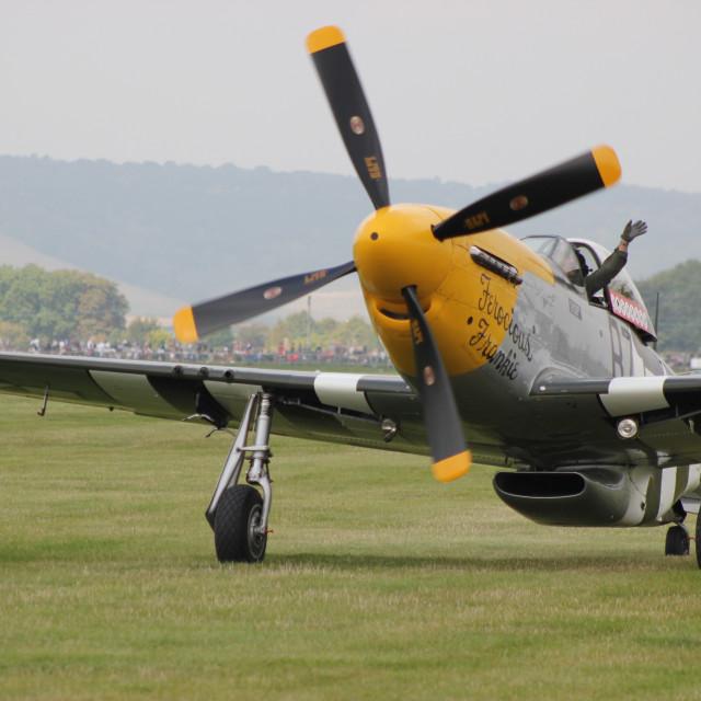 """P-51 Mustang ""Ferocious Frankie"""" stock image"