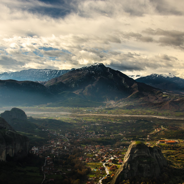 """""""View from Meteora, Greece"""" stock image"""
