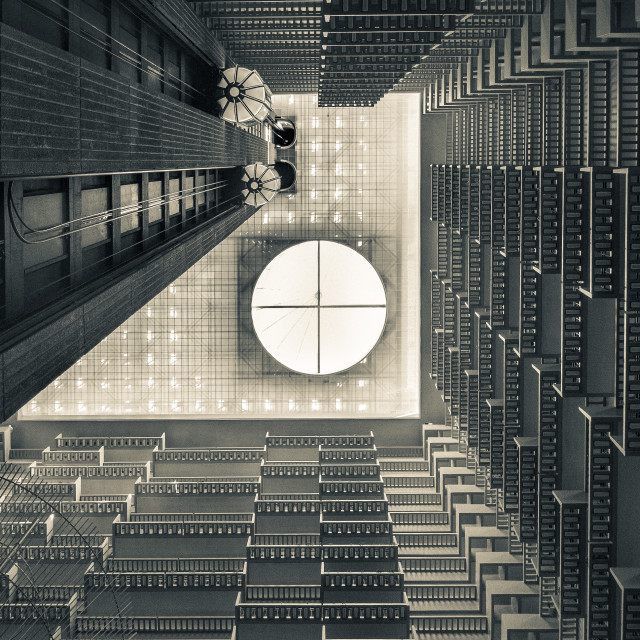 """""""Indoor balconies"""" stock image"""