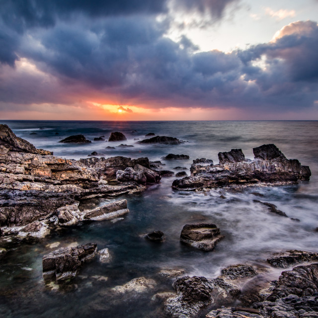 """Crete sunset"" stock image"