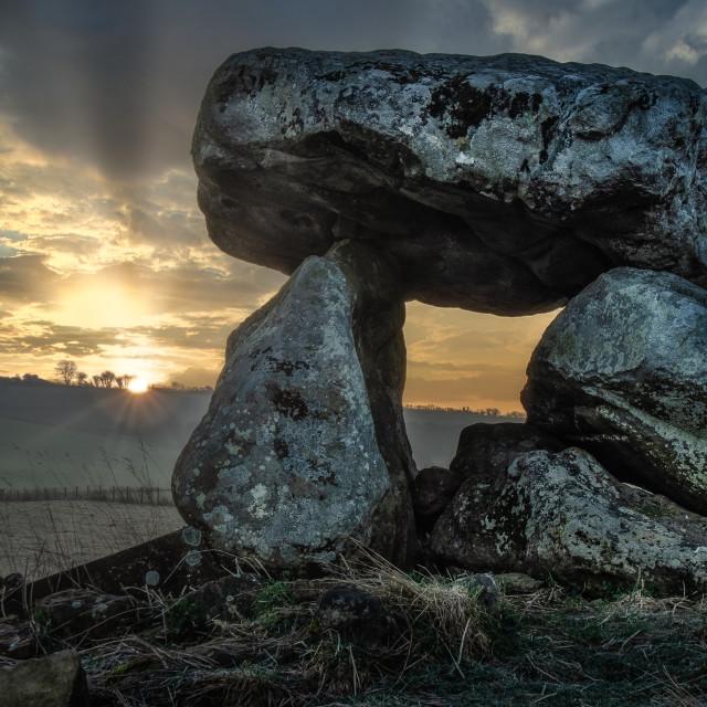 """""""Sunrise at Devil's Den, UK"""" stock image"""
