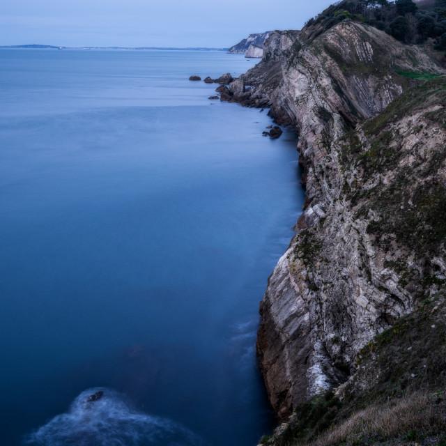 """Dawn at Lolworth Cove, UK"" stock image"