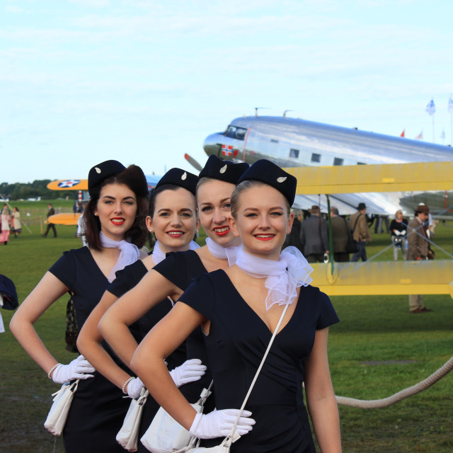 """Air Stewardess Line-up"" stock image"