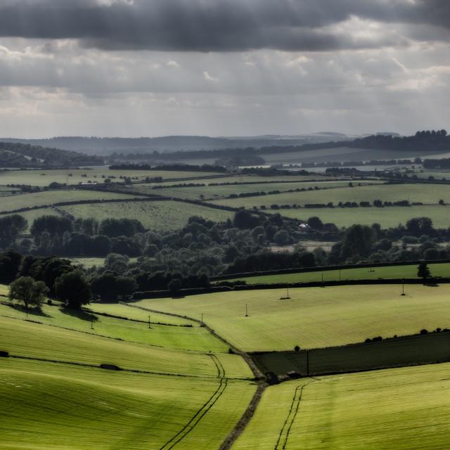 """View from Stockbridge Down"" stock image"