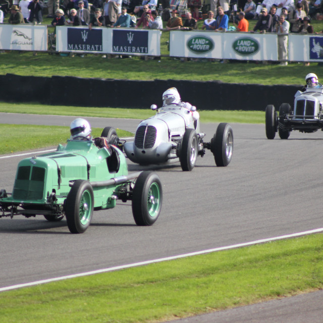 """1930s Classic Cars, Madgewick Corner"" stock image"