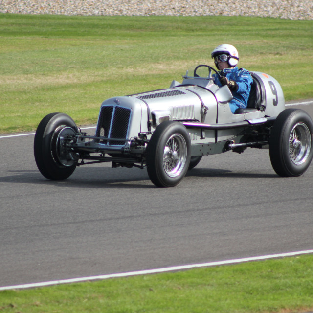 """1930s Classic Car, Madgewick Corner"" stock image"