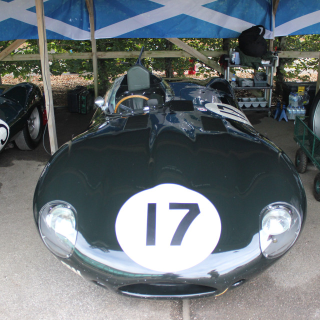 """""""Car in paddock at the Goodwood Revival 2017"""" stock image"""