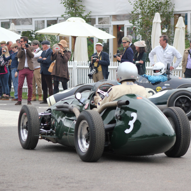 """""""Start Line Paddock at the Goodwood Revival 2017"""" stock image"""