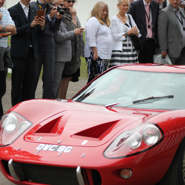 """""""Ford GT40 at the Goodwood Revival 2017"""" stock image"""