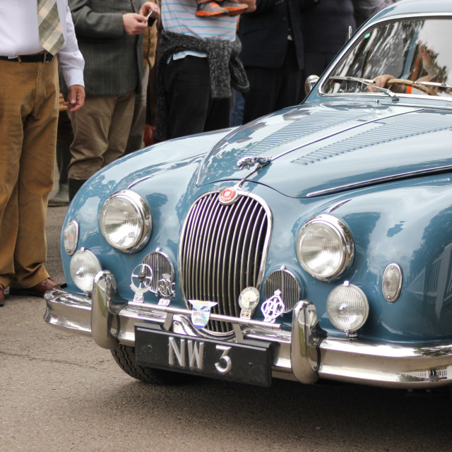 """Jaguar at the Goodwood Revival 2017"" stock image"