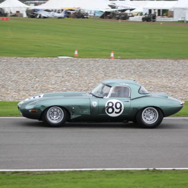 """1960s Classic Car, Madgewick Corner"" stock image"
