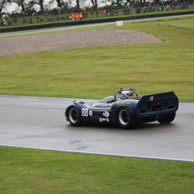 """""""1960s Classic Car, Goodwood Revival, 2017"""" stock image"""