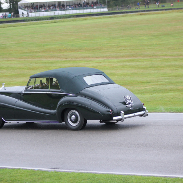 """""""1940s Classic Car, Goodwood Revival, 2017"""" stock image"""