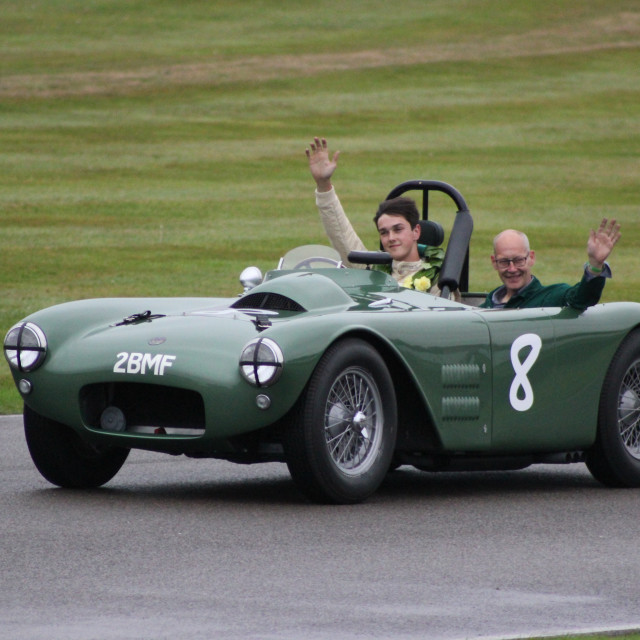 """""""The Race Winners, Goodwood Revival, 2017"""" stock image"""