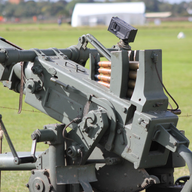 """""""Anti Aircraft Gun"""" stock image"""