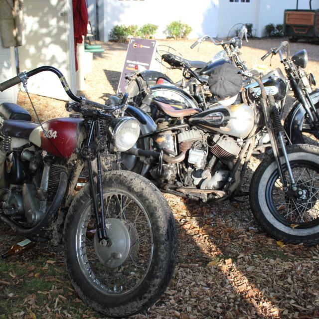 """Vintage Motorbikes"" stock image"