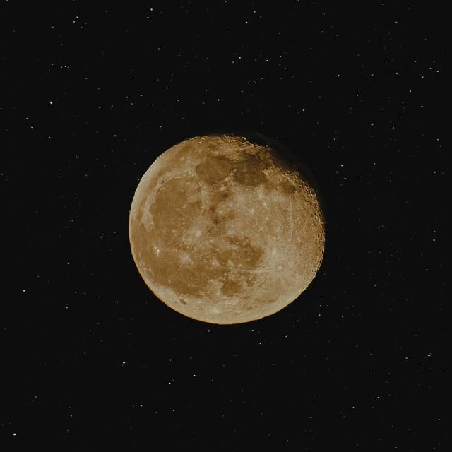 """Orange Full Moon"" stock image"