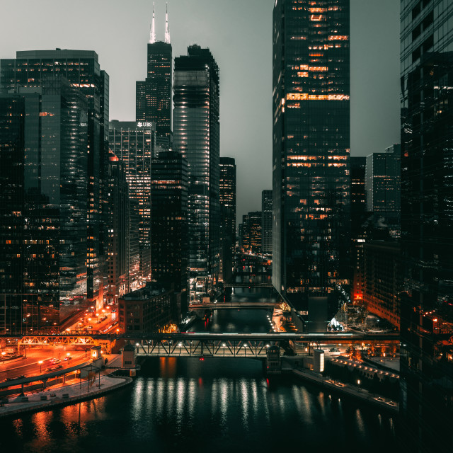 """Sleeping Chicago"" stock image"