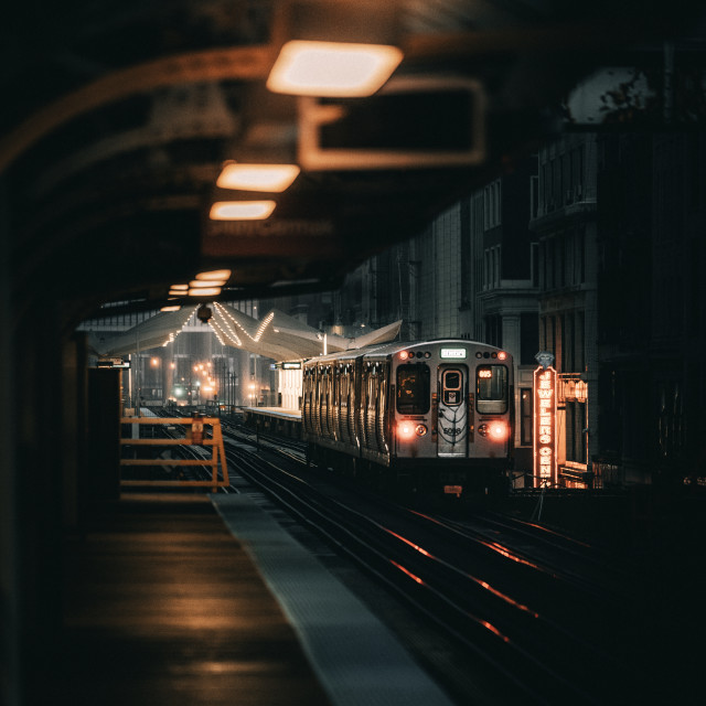 """""""Waiting on a Train"""" stock image"""