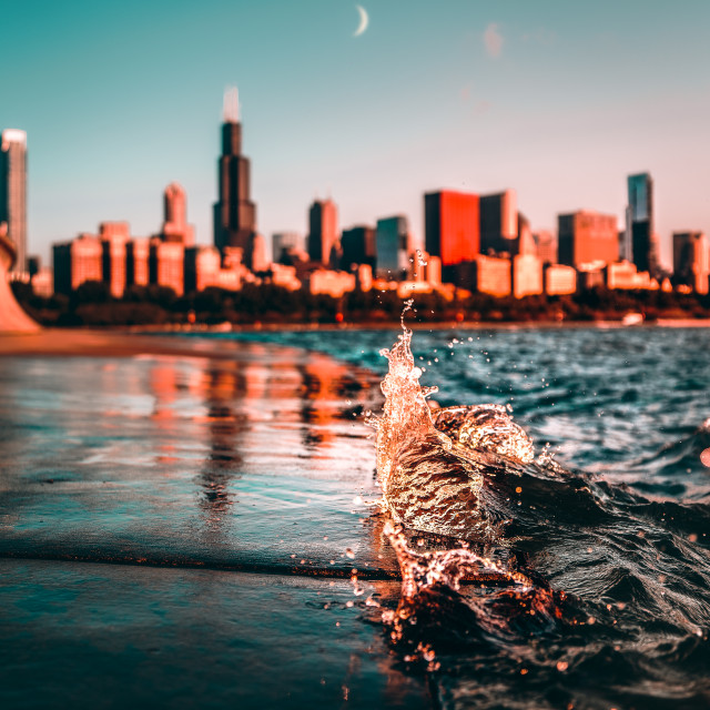 """""""Chicago Lakefront"""" stock image"""