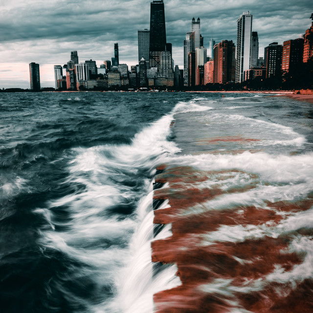 """""""Chicago in the Storm"""" stock image"""