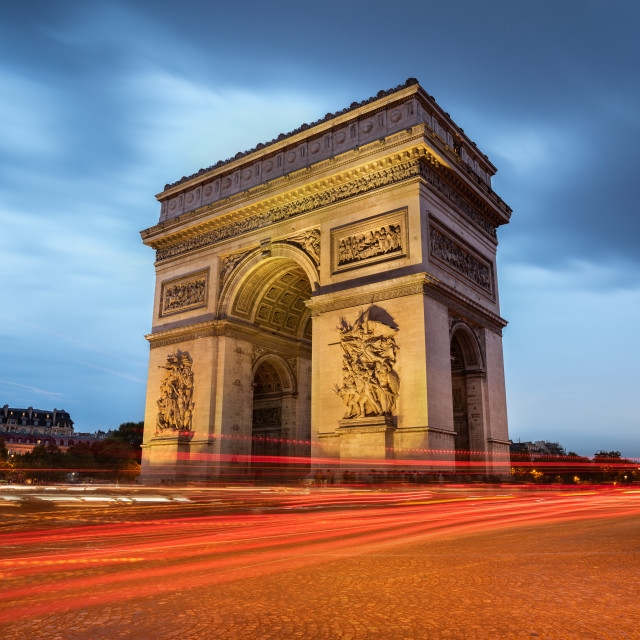 """""""Cityscape at the Arch of Triumph, Paris, France"""" stock image"""