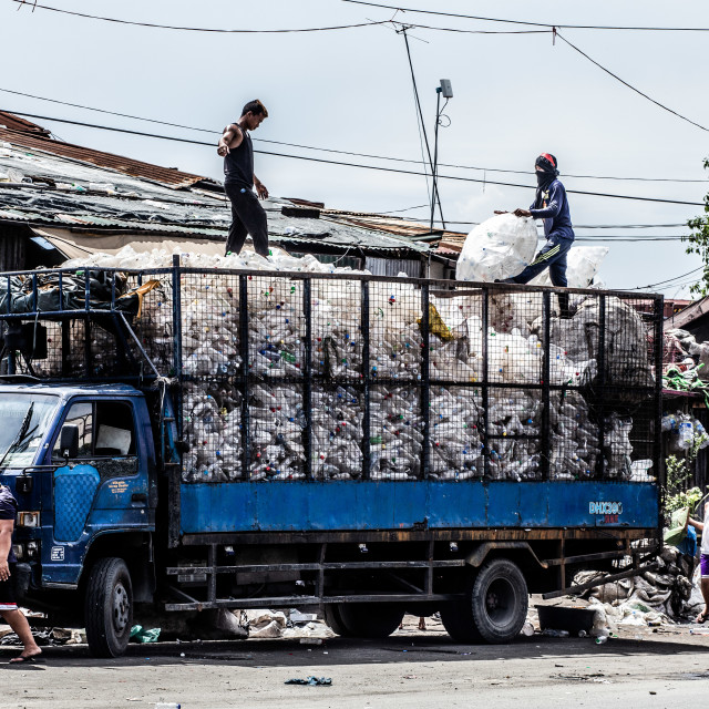 """Armenviertel Tondo Slum am Manila Bay"" stock image"