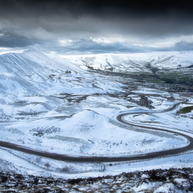 """""""Edale Valley Winter"""" stock image"""