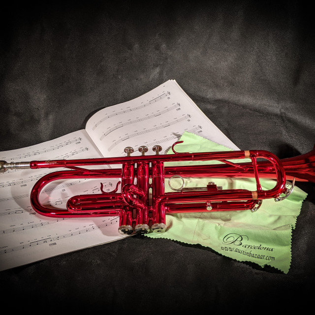 """""""Red trumpet"""" stock image"""