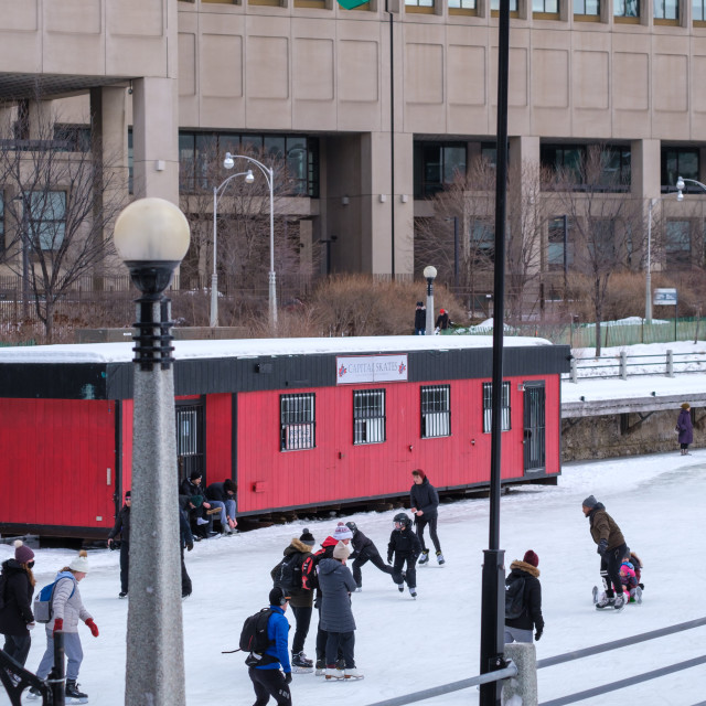 """""""Rideau Canal Ice Skating in 2021"""" stock image"""