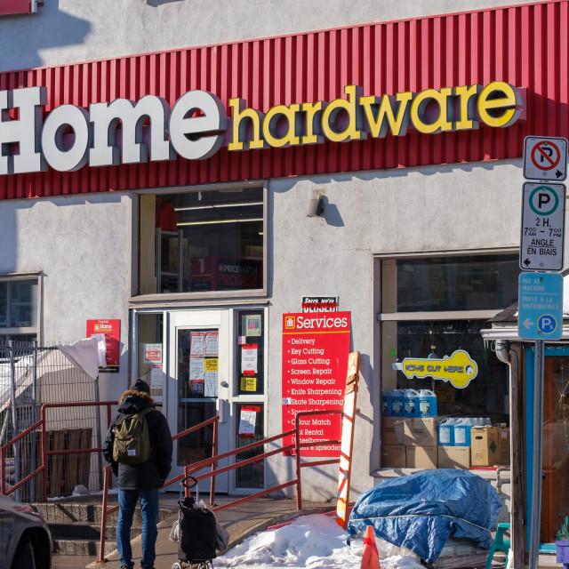 """Home Hardware in The Glebe, Ottawa"" stock image"