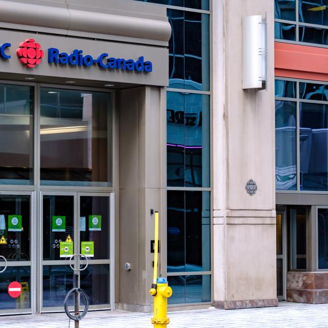 """CBC Radio-Canada office in downtown Ottawa"" stock image"