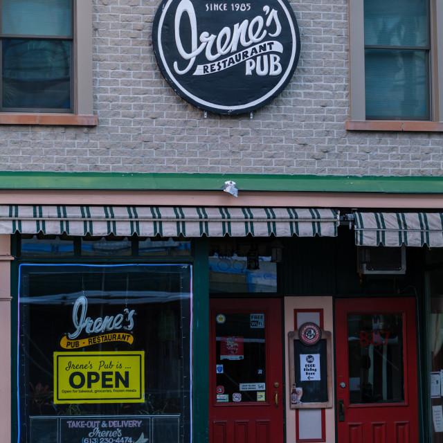 """Irene's Pub, since 1985 in The Glebe, Ottawa"" stock image"