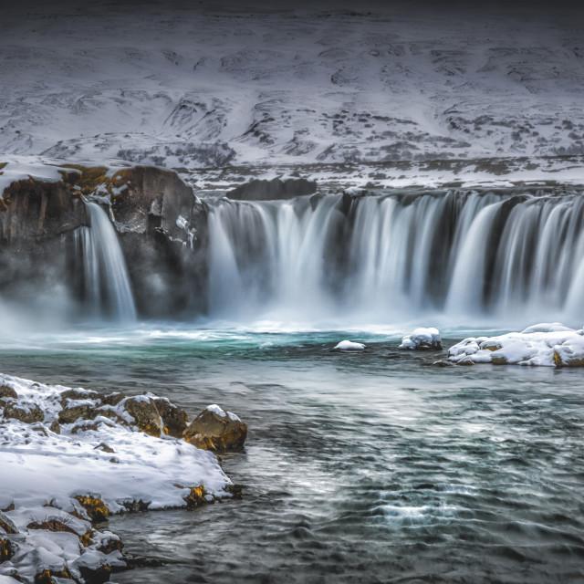 """Godafoss Waterfall Iceland"" stock image"